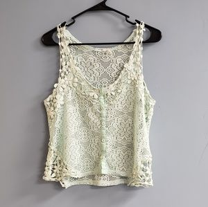 Anthropologie Kimchi Blue Crocheted Tank Top
